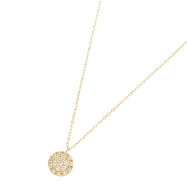 K18ダイヤモンド クラスター取巻きネックレス 大/ココシュニック(COCOSHNIK)