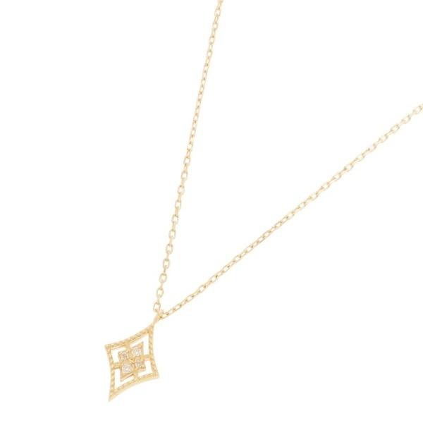 ダイヤモンド 透かしフチミル ひし形 ネックレス/ココシュニック(COCOSHNIK)
