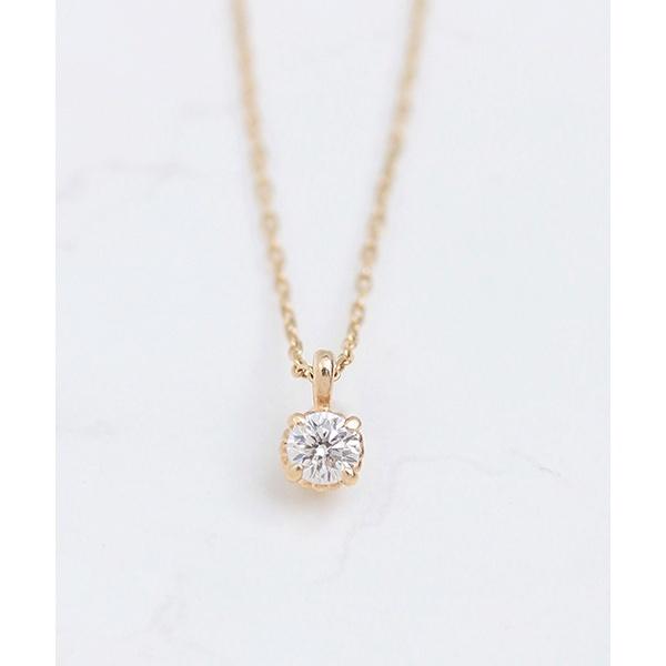 K10 一粒ダイヤモンド(0.06ct) ネックレス/ノワール ド プーペ(NOIR DE POUPEE)