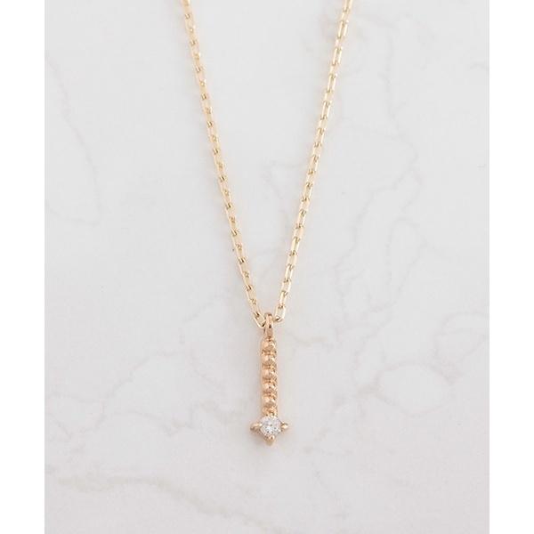 K10 ミルライン ゴールド ダイヤモンド ネックレス/ノワール ド プーペ(NOIR DE POUPEE)