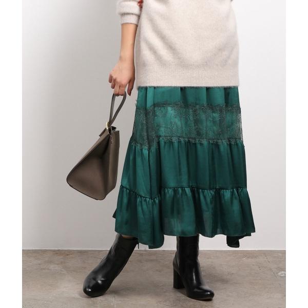 ラインレースギャザースカート/ロペマドモアゼル(ROPE' mademoiselle)