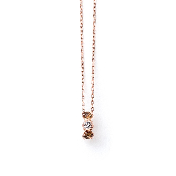 K10 ピンクゴールド スモーキークォーツ ネックレス/ブルーム(BLOOM)