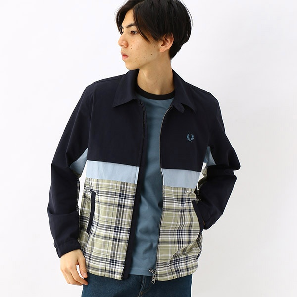 【S20】PANELLED CABAN JACKET/フレッドペリー(メンズ)(FRED PERRY)