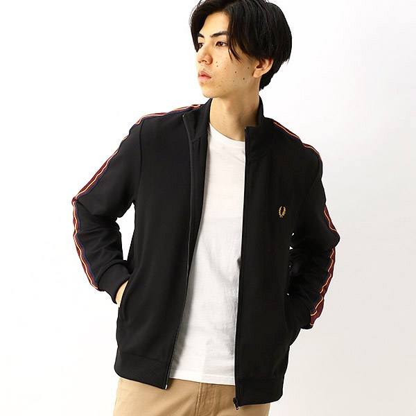 【S20】TAPED SLEEVE TRACK JACKET/フレッドペリー(メンズ)(FRED PERRY)