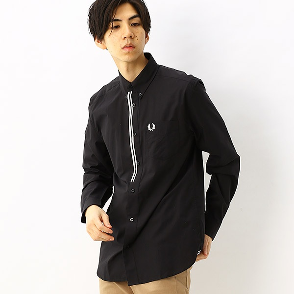 【S20】TAPED PLACKET SHIRT/フレッドペリー(メンズ)(FRED PERRY)