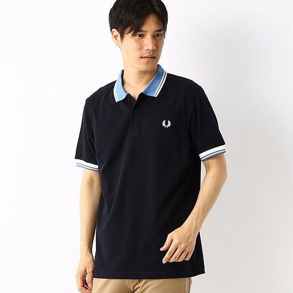 【S20】CONTRAST RIB ポロシャツ/フレッドペリー(メンズ)(FRED PERRY)