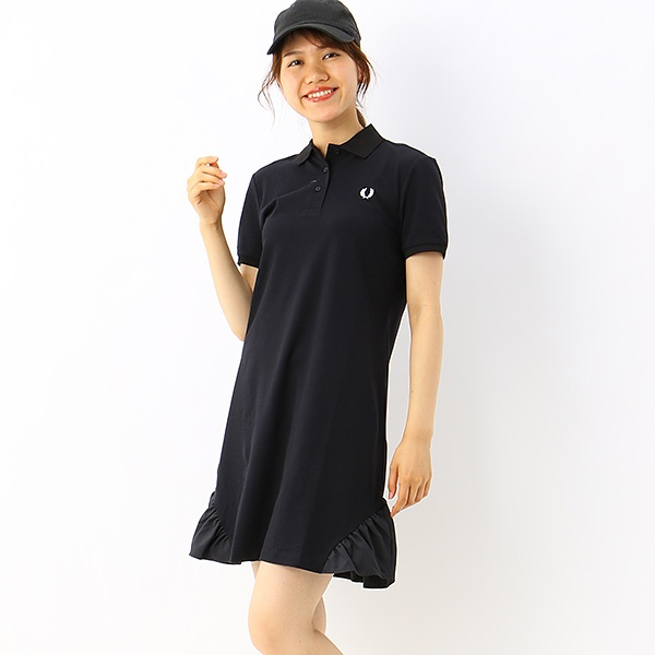 【S20】FRILL DETAIL PIQUE DRESS/フレッドペリー(レディス)(FRED PERRY)