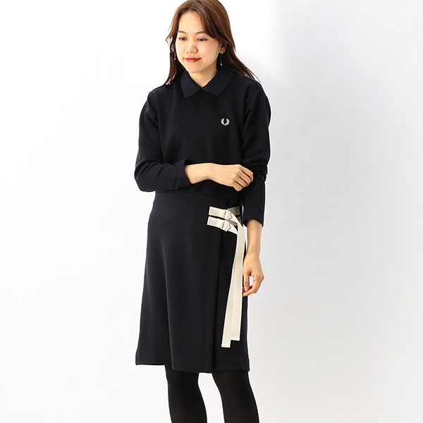 【S20】LONG SLEEVE JERSEY DRESS/フレッドペリー(レディス)(FRED PERRY)