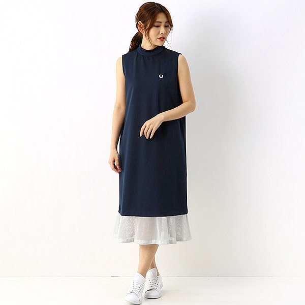 【S20】SLEEVELESS PIQUE DRESS/フレッドペリー(レディス)(FRED PERRY)