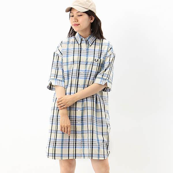 【S20】MADRAS CHECK SHIRT DRESS/フレッドペリー(レディス)(FRED PERRY)