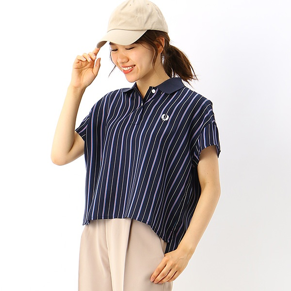 【S20】STRIPED SHIRT/フレッドペリー(レディス)(FRED PERRY)