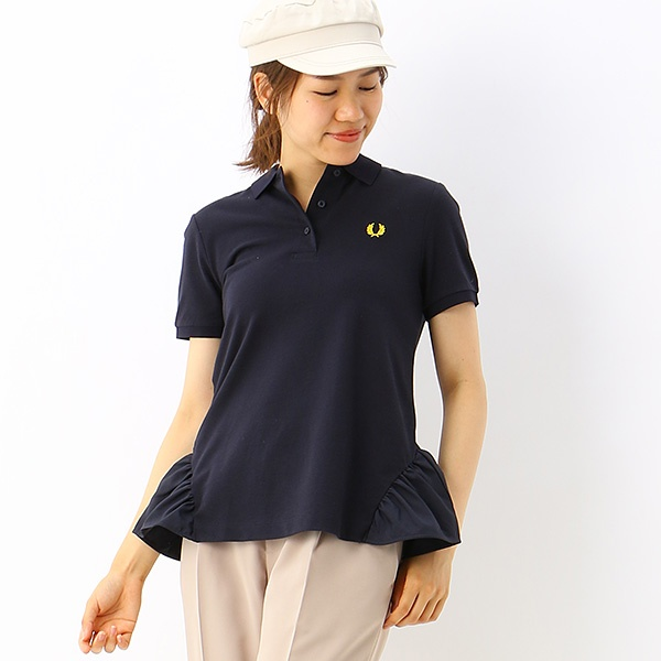 【S20】FRILL DETAIL PIQUE SHIRT/フレッドペリー(レディス)(FRED PERRY)