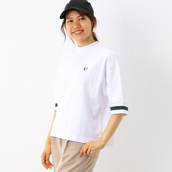 【S20】OVERSIZED PIQUE T-SHIRT/フレッドペリー(レディス)(FRED PERRY)