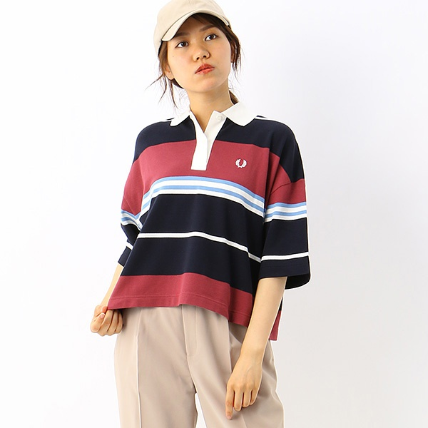 【S20】STRIPED PIQUE SHIRT/フレッドペリー(レディス)(FRED PERRY)