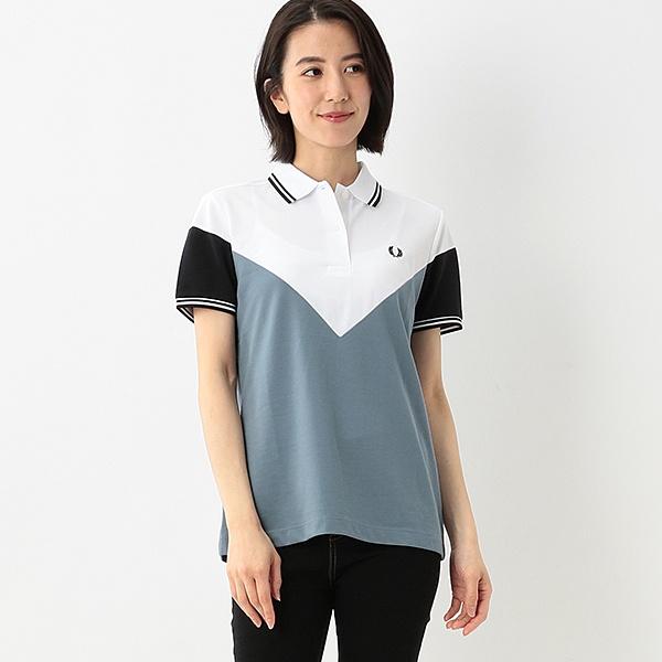 【S20】CHEVRON DETAIL ポロシャツ/フレッドペリー(レディス)(FRED PERRY)