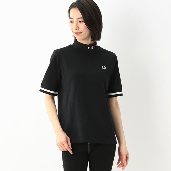 【S20】HIGH NECK FRED PERRY T-SHIRT/フレッドペリー(レディス)(FRED PERRY)