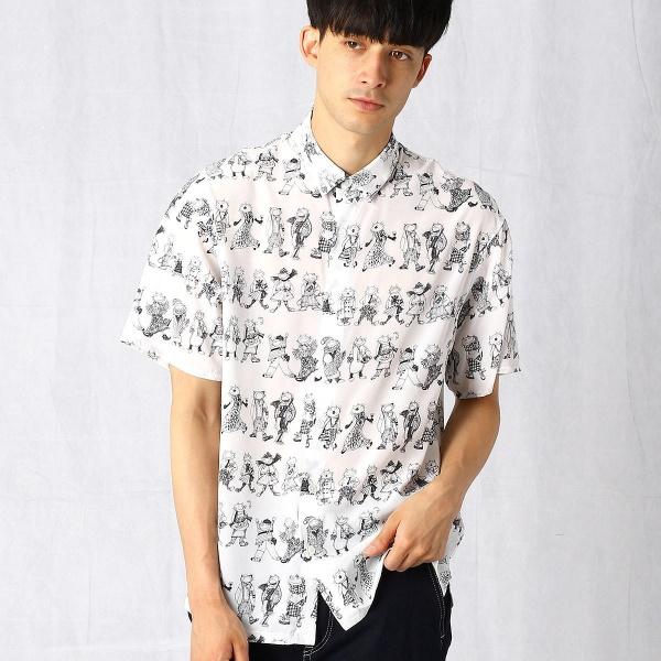 ネコプリントシャツ/βメン(BMEN)