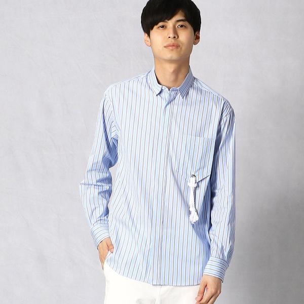 シーサイドストライプ カジュアルシャツ/βメン(BMEN)