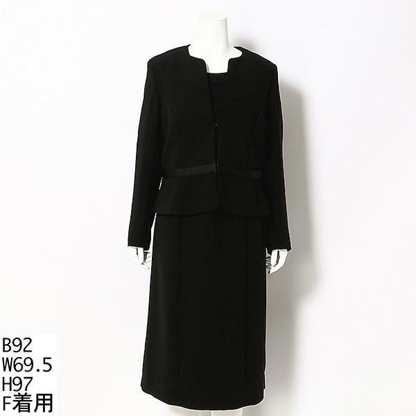 【大きいサイズ】ブラックフォーマル アンサンブルスーツ/ラクープ(LACOUPE)