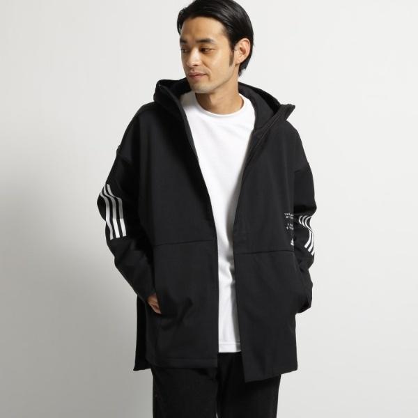 adidas レインフーデットジャケット/オペークドットクリップ(メンズ)(OPAQUE.CLIP Mens)