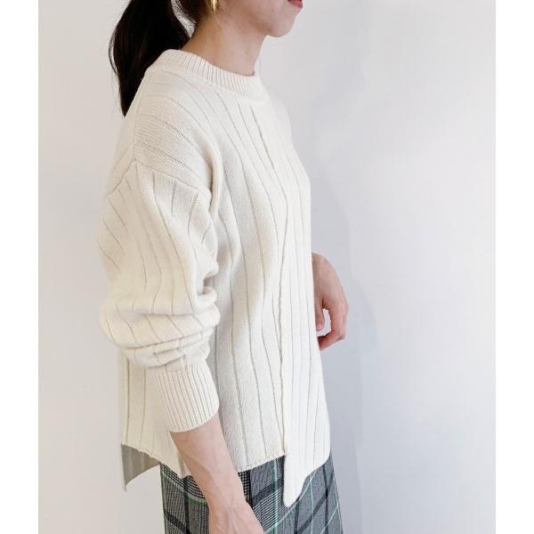 レディースTシャツ・カットソー ワイドリブチュニックニット/ロペマドモアゼル(ROPE' mademoiselle)