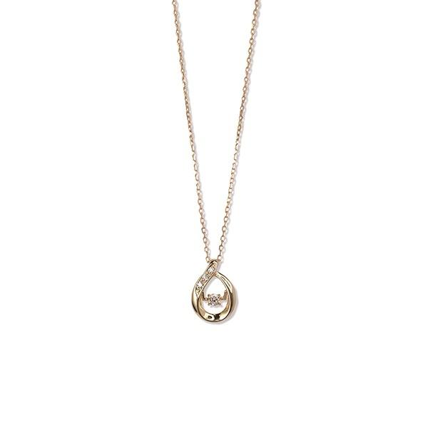 K10 イエローゴールド ダイヤモンド しずく ネックレス/ブルーム(BLOOM)