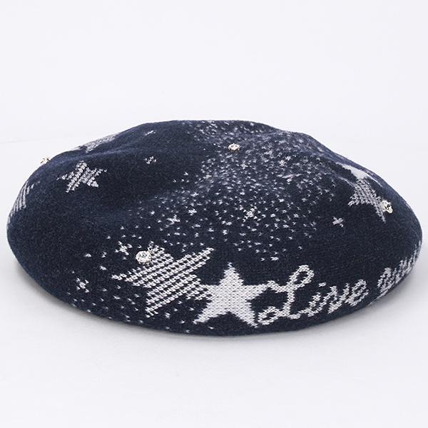 アナスイ ジャガードバスクベレー帽子 日本製/アナスイ(オーロラ)(ANNA SUI)