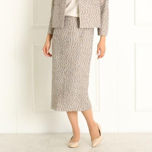 付与 ドレステリア レディス 新入荷 流行 DRESSTERIOR Ladies セットアップ可 入卒 MIXツィードストレートスカート