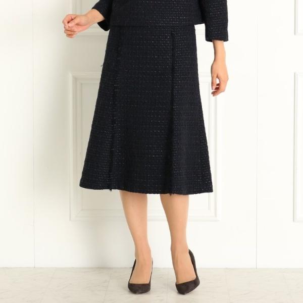 安心の実績 高価 買取 格安SALEスタート 強化中 ドレステリア レディス DRESSTERIOR Ladies セットアップ可 入卒 ツィードセミフレアースカート