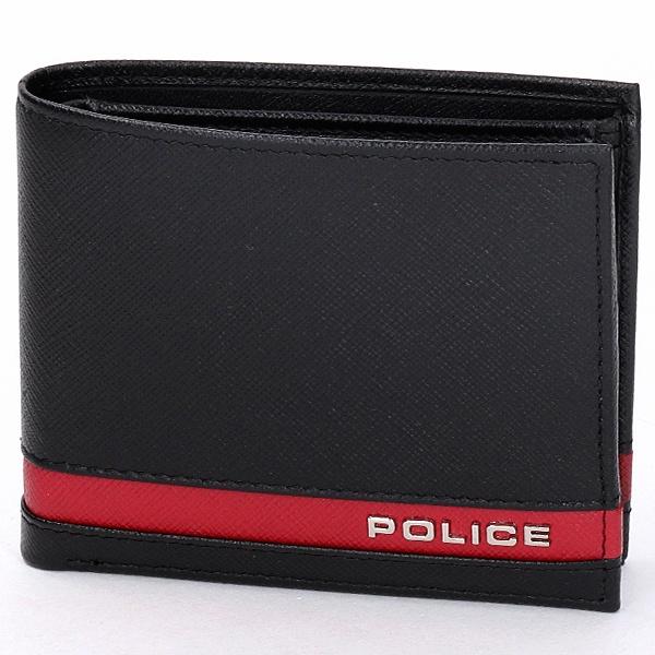 PLC 二つ折り財布 小銭付き/ポリス(バッグ&ウォレット)(POLICE)