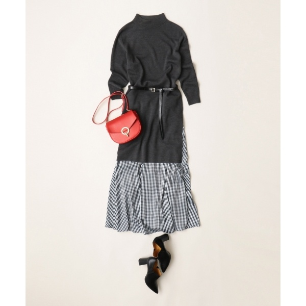 【WEB限定】ニット×スカート セットアップ/自由区 S(JIYUKU S)