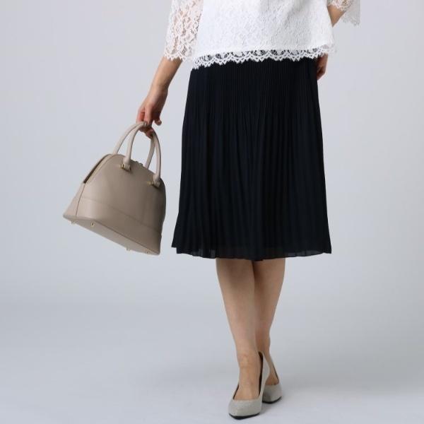 [L]【洗える】ラフィネジョーゼットプリーツスカート/アンタイトル(UNTITLED)