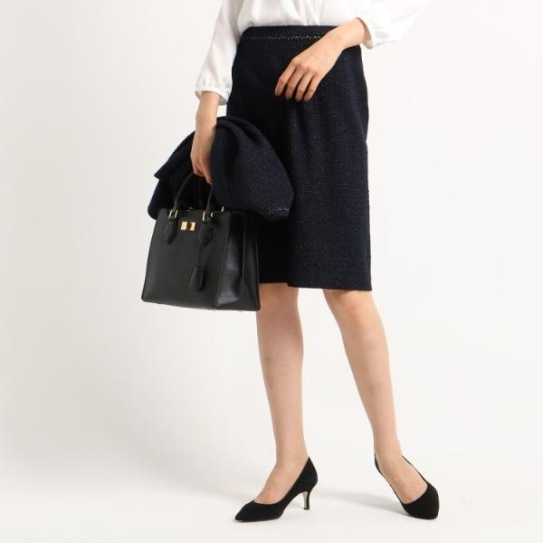[L]【ママスーツ入学式 スーツ卒業式 スーツ】ネオブライトツイードタイトスカート/インディヴィ(INDIVI)