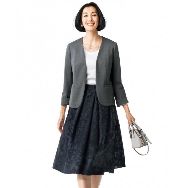 【マガジン掲載】フラワーオパール リバーシブルスカート(検索番号A26)/自由区(JIYUKU)