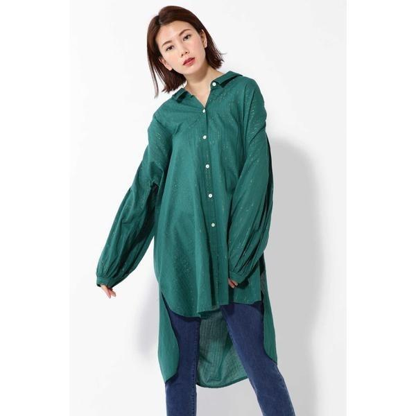 品多く ラメストライプロングシャツ/ローズバッド(ROSE BUD), 豊田市 6c3fd05b