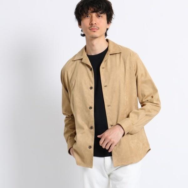 【Sサイズ~】撥水スエード調オープンカラーシャツ/タケオキクチ(TAKEO KIKUCHI)