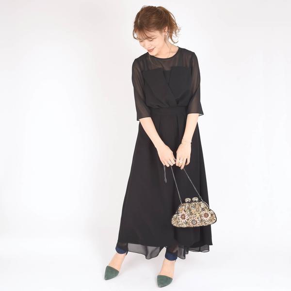 little black:レイヤードセットアップワンピース《パーティー用》◇/シップス(レディース)(SHIPS for women)