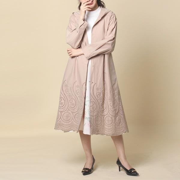 裾刺繍ロングマウンテンパーカー/ローズティアラ(Rose Tiara)