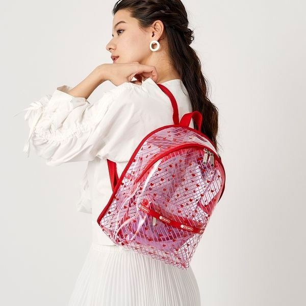 CLEAR SM BACKPACK/ライトハーテッド/レスポートサック(LeSportsac)