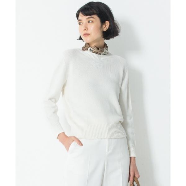 【洗える】コットンブレンドコード ニット/23区 L(NIJYUSANKU L)