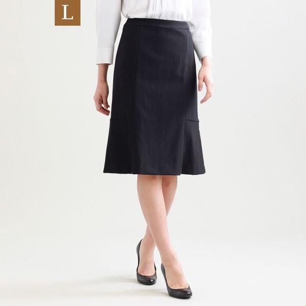 【L】【セットアップ対応】【美Skirt】ツイーディーアートピケセミフレアースカート/トランスワーク(L)(TRANS WORK(L))