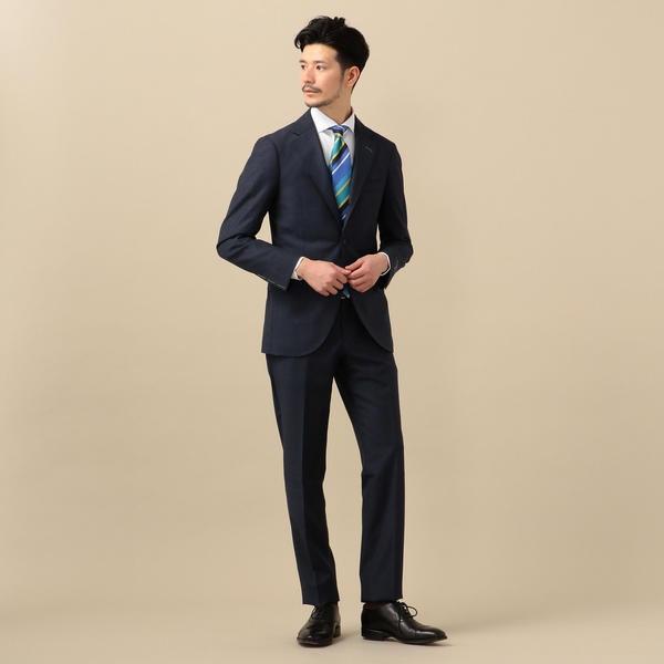 【NEW】- SD: エルメネジルド ゼニア トロピカル ネイビー グレンチェック スーツ/シップス(メンズ)(SHIPS)