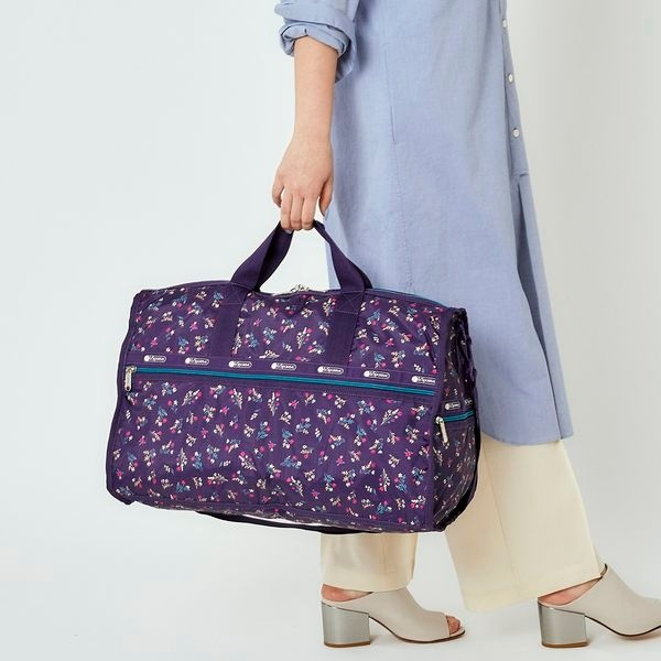 LARGE WEEKENDER/ユッカパープルブーケ/レスポートサック(LeSportsac)