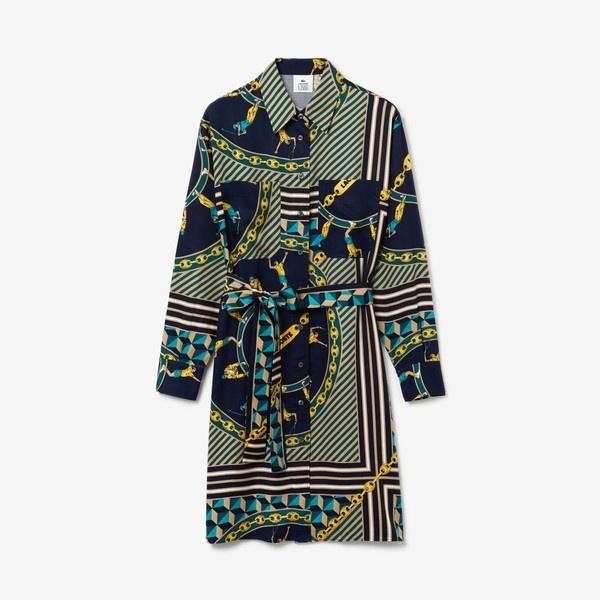 オリジナルスカーフプリントシャツドレス/ラコステ(LACOSTE)