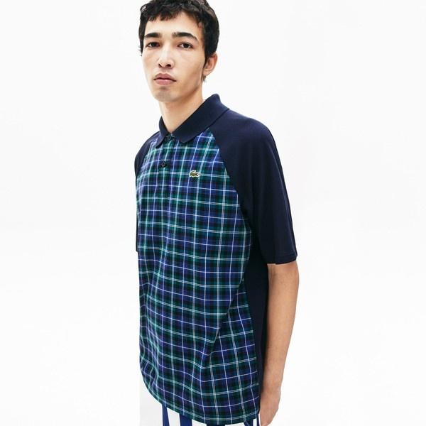 コントラストリブカラーブラックウオッチポロシャツ(半袖)/ラコステ(LACOSTE)