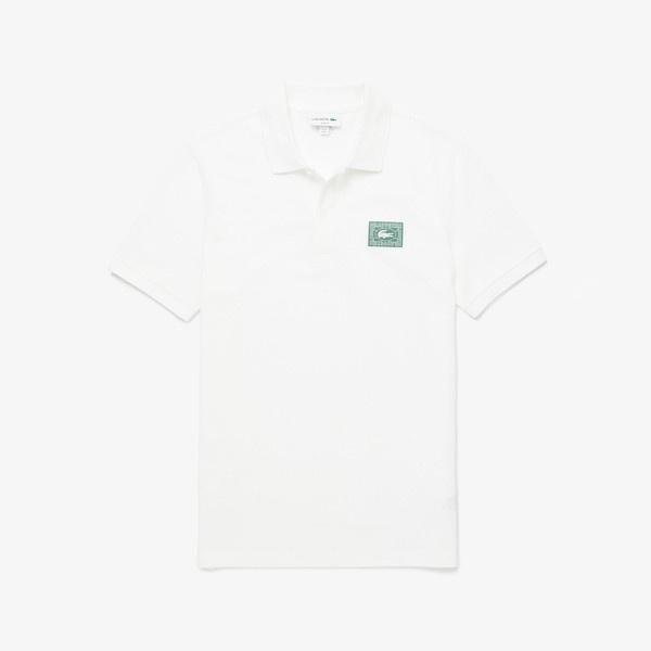 スリムフィット レターグラフィックコットンポロシャツ(半袖)/ラコステ(LACOSTE)