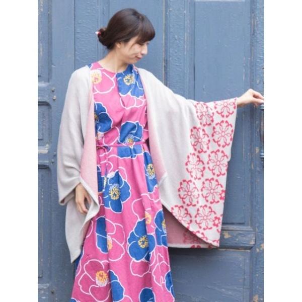 【カヤ】紋色羽織り ビッグシルエットニットカーディガン/チャイハネ(CAYHANE)