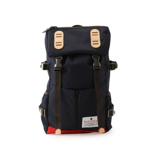 【MAKAVELIC マキャベリック】DOUBLE BELT PMD MIX DAYPACK/ジュンレッド(JUNRed)