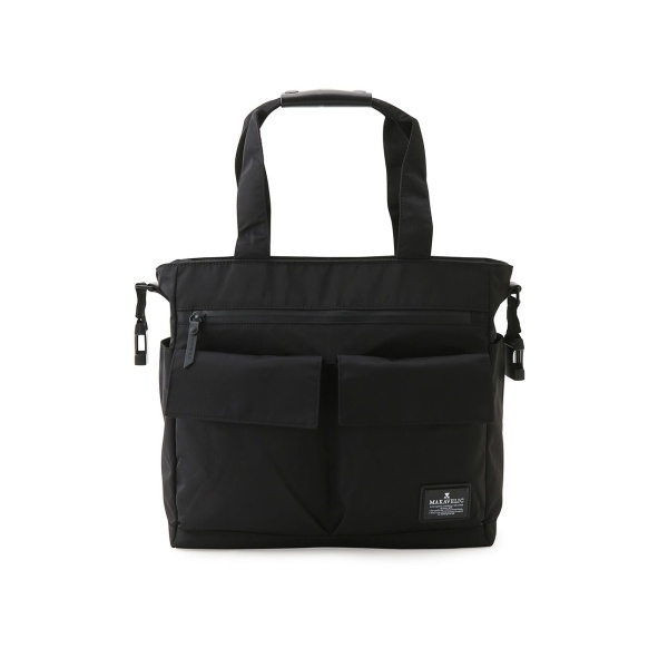 【MAKAVELIC マキャベリック】DOUBLE FLAP 2WAY TOTE BAG/ジュンレッド(JUNRed)