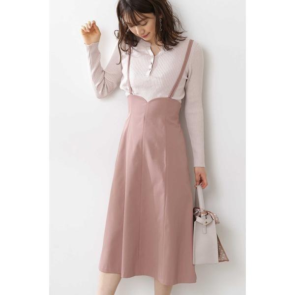 《田中みな実さん着用》◆バックレースアップジャンパースカート/プロポーションボディドレッシング(PROPORTION BODY DRESSING)